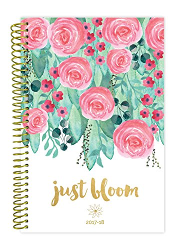"""bloom daily planners 2017-18 Academic Year Daily Planner - Passion/Goal Organizer - Monthly and Weekly Datebook and Calendar - August 2017 - July 2018-6"""" x 8.25"""" - Just Bloom"""