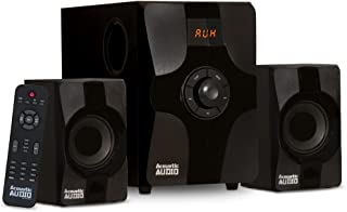 Acoustic Audio AA2131 Bluetooth Home 2.1 Speaker System for Multimedia Computer Gaming