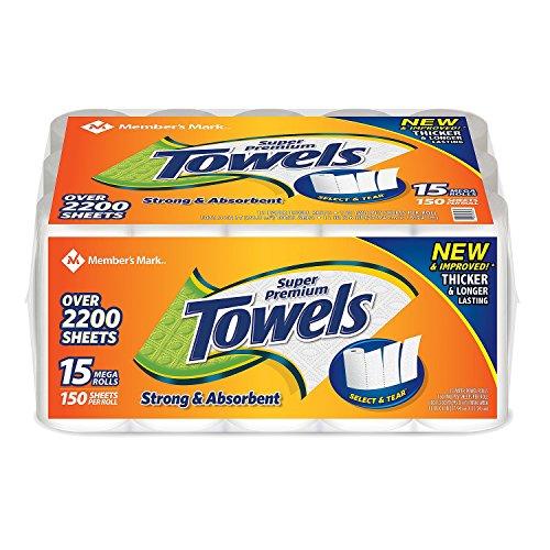 Member's Mark Super Premium 2-Ply Paper Towels (15 Rolls, 146 Sheets per Roll) (15 Rolls)