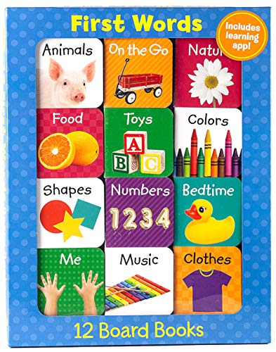 First Words (12 Book Set & Downloadable App!) (Early Learning)