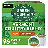 Green Mountain Coffee Roasters Vermont Country Blend Decaf, Single-Serve Keurig K-Cup Pods, Medium Roast Coffee, 96 Count