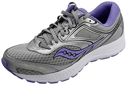 Saucony Women's Versafoam Cohesion 12 Road Running Shoe, Silver/Purple, 8.5 M US