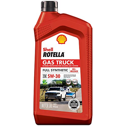 Shell Rotella 550050318-6PK Gas Truck Full Synthetic 5W-30 Motor Oil for Pickups and SUVs (1-Quart, Case of 6)