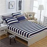 XGguo Protector de colchón de Rizo algodón y Transpirable Sábana de algodón Antideslizante comfort-13_200x220cm