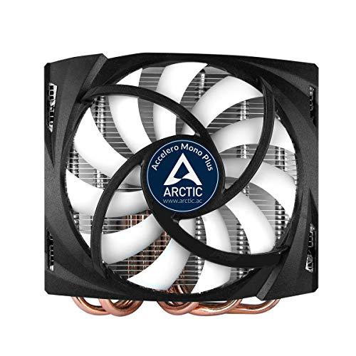 ARCTIC Accelero Mono Plus - Dissipatore per Schede Grafiche AMD/NVIDIA, Silenziosa Ventola 120mm PWM, Capacità di Raffreddamento di 120 W, Pasta Termica MX-4 Pre Applicata, fino a 200 W, 400-1500 RPM