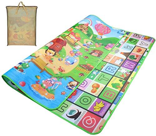 Spielmatte, 180 * 150cm Faltbare Große Anti-Rutsch Krabbelmatte, Doppelseiten Spielbar Baby Kleinkind Crawl Mat, als Krabbeldecke fürs Kind, Yogamatte, Picknick-Decke und Übungsauflage Geeignet
