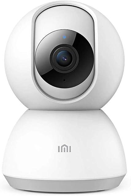 Nuevo-IMI Mi Home Camara Vigilancia 1080pDome CámaraDetección de MovimientoXiaomi Camara IP de visión Nocturna Audio de 2 vias y Nube con App para iOSAndroid y Windows PC (Blanco)