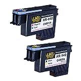 Cabezal de impresión Hp 940 Lucky Bridge HP940, Printhead 2PK, C4900A, C4901A, remanufacturado, compatible con HP Officejet, Pro 8000, 8500A, 8500A, Plus 8500A Premium