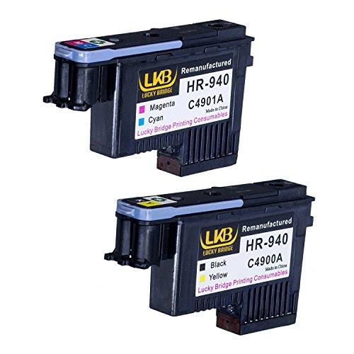 Lucky Brücke HP940Druckkopf 2Stück C4900A C4901A wiederaufbereitete kompatible für HP Officejet mit Pro 800085008500A 8500A Plus 8500A Premium