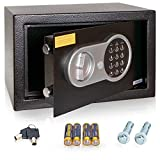 Anadol Tresor Premium, Elektronischer-Safe mit Zahlenschloss & Schlüssel, Kleiner-Tresor,...