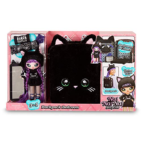 Na! Na! Na! Surprise Na Backpack Bambole Fashion, Colore Black [Versione Giochi Preziosi], NAA04210
