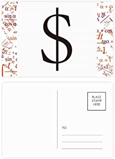DIYthinker Currency Symbol American Dollar Formula Postcard Set Thanks Card Mailing Side 20Pcs 5.7 inch x 3.8 inch MultiColor