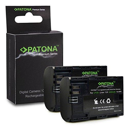2x Premium Batteria LP-E6 LPE6 per Canon EOS 5D Mark II | EOS 5D Mark III | EOS 6D | EOS 7D | EOS 60D | EOS 60Da | EOS 70D