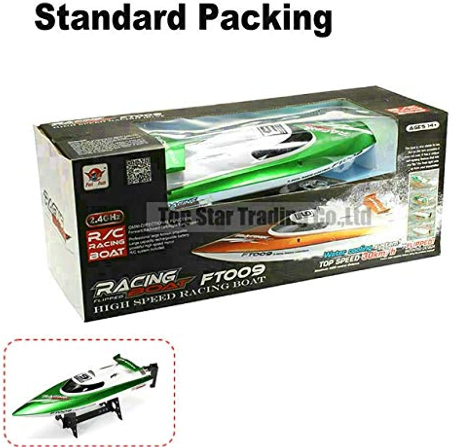 Generic Ft009 2.4g High Speed Racing Rc Boat Ship with Water Cooling Motor System 30km h Vs Ft012 White