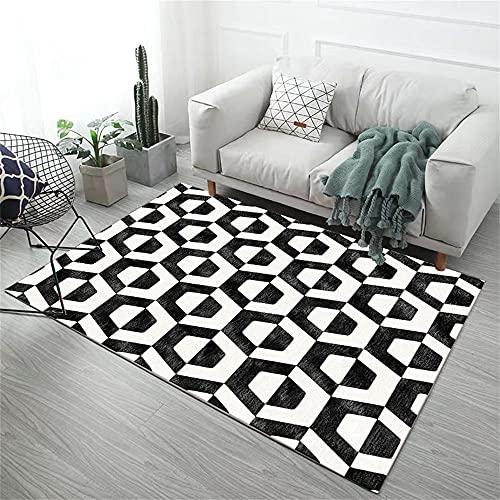 Alfombras Habitacion Matrimonio Alfombra Geometrica Black White Modern Modernalistic Diseño Gráfico Alfombras...