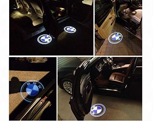 FGHN Willkommens-Licht 4 Stück HD-Logo-Symbol-Laser-Projektor-Lichter-Geist-Schatten Willkommen Lampe Courtesy Licht for BMW 3 série 5 Series