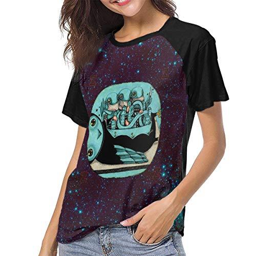 Latoshachase Womens Shirt My Morning Jacket Z Baseball Raglan Tee Womans Full 3D Printed Top Tennis Contrast Tshirts X-Large Black