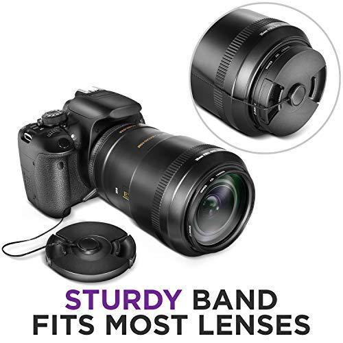 + Lens Cap Holder 67mm Nikon COOLPIX P900 Lens Cap Center Pinch Nw Direct Microfiber Cleaning Cloth.