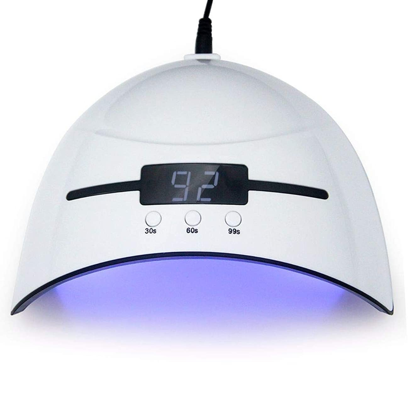 解釈的おとこ研究ネイルドライヤー36WネイルドライヤーLED UVランプマイクロUSBネイルランプ用硬化LEDジェルビルダー3タイミングモード自動センサー付きネイルドライヤー、写真の色