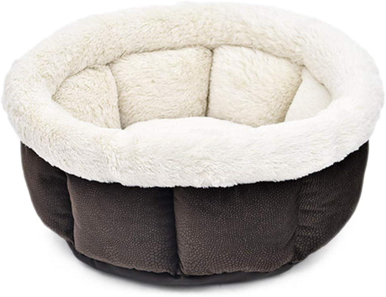 PetvillaLKR Soft Cat Bed Kitten Nest Luxury Dog Kennel Puppy House Bed For Dog Cozy Kitten Cage Pet Supplies Warm Pet Mats Brown