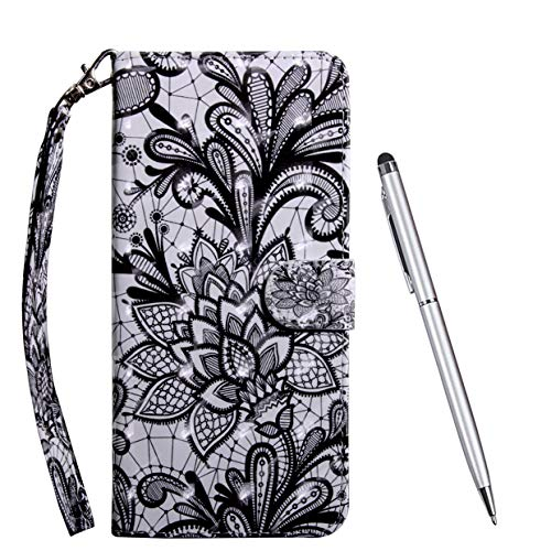 TOUCASA Hülle Kompatibel mit LG V50 ThinQ, Handyhülle Brieftasche PU Leder Flip [3D] Hülle Magnetverschluss Handytasche Klapphülle Tasche Lederhülle Schutzhülle (Mandala)