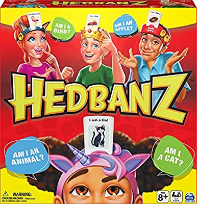 Hedbanz Picture Guessing Board Game New Edition, for Families and Kids Ages 8 and up by Spin Master