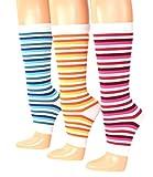 Shimasocks Socken Kinder Damen Socken ohne Spitze Dreierpack, Farben alle:blau/orange/rot, Größe:One Size