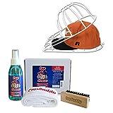 Cap Buddy Cap Cleaner Set de regalo Premium de béisbol Cap limpiador para tus gorras de béisbol incluye spray, cepillo y paño (White & White)