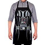 Vitalco Darth Vader Men's Adjustable Apron | Star Wars Grill Father BBQ Men's | Adult Size 100% Cotton