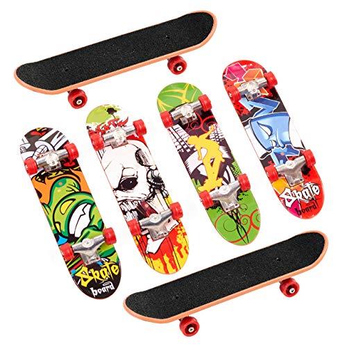 THE TWIDDLERS 12 Stück Mini Finger Skateboards - Mitgebsel für Kindergeburtstag