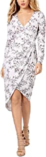 GUESS Women's Frosted Floral White Alyssum Dress, White (X-Small)
