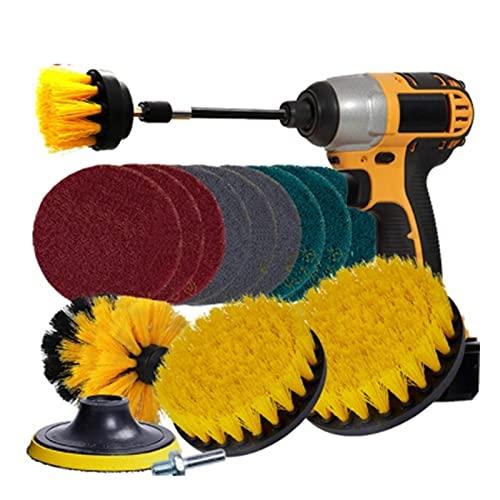 JIABIN Songz Store Power Scrubber Brush Brush Coche Detalles Cepillo Cepillo Limpieza Cepillos Ajuste para Baño Bañera Cocina Auto Limpieza de Automóviles Herramientas de Lavado (Color : Yellow)
