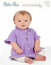 Peter Pan Baby Cardigan with Crochet Edge Knitting Pattern 1184 DK