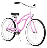 Firmstrong Urban Lady Single Speed Beach Cruiser Bicycle, 26-Inch, Pink