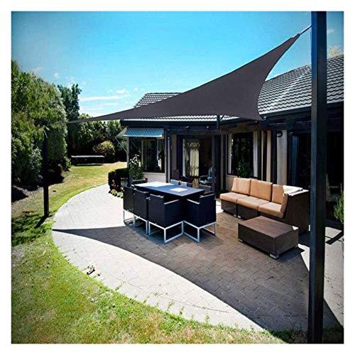 ZXD Vela De Sombra De Sol 95% De Bloqueo UV Impermeable Comercial Patio De Grado Toldo con Protección Solar para Fiesta En El Patio del Jardín Al Aire Libre (Color : Gray, Size : 3x3x3m)