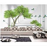 Zjxxm Custom Wallpaper Mural Modern Abstract Tree Branch Space Bird Photo Wallpaper Papel Tapiz para Pared Moderno -350Cmx280Cm