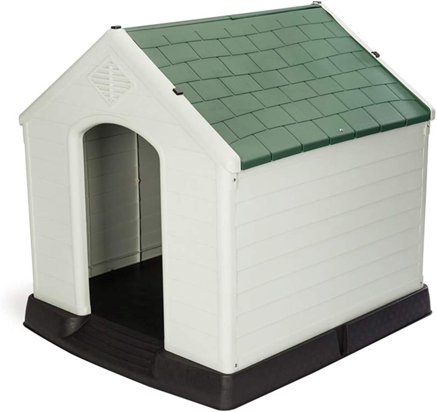 Pet Kennel Plastic Large Dog Bed House Washable Dog House, Single Door Dog Playpen Crate Fence (color   GREEN)