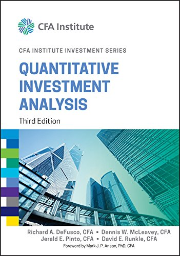 Quantitative Investment Analysis (CFA Institute Investment Series)