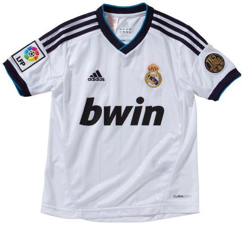 Adidas Real Madrid C.F. - Camiseta del Real Madrid 2012-2013 infantil, 18 años, color blanco