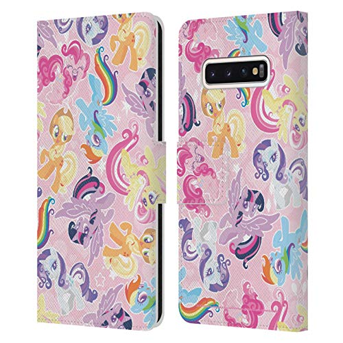 Head Case Designs Officially Licensed My Little Pony Ponies Sugar Crush Leather Book Wallet Case Cover Compatible with Samsung Galaxy S10