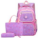 Posma BGC030 Girls Boys School Backpack for Middle School Cute Bookbag Outdoor Daypack - Purple