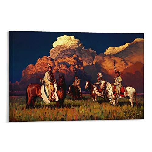 DONGXIO Rdr2 Poster, Motiv: Indianer, 50 x 75 cm