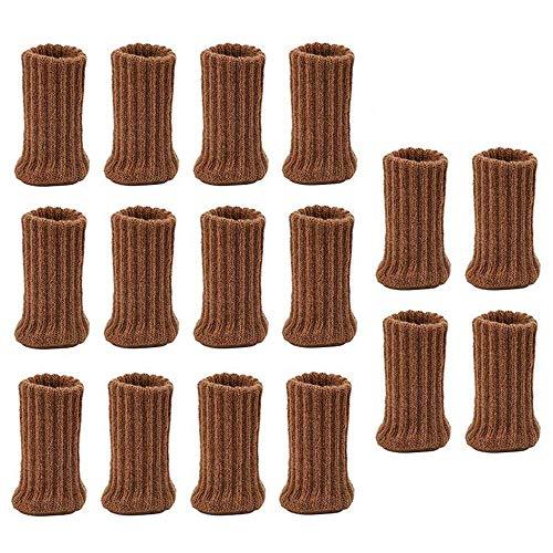16 Piezas Calcetines para Sillas Elásticos de Fieltro, Calcetines para Patas de Silla Antideslizantes, Doble Engrosamiento Protectores para Patas de Sillas, para Mesa Muebles Protector ✅