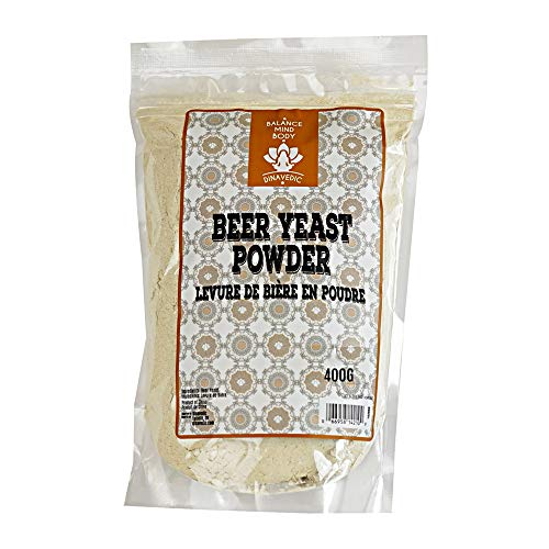 Dinavedic Pure Brewer's Yeast 400g   All Natural Beer Yeast Powder, Perfect Vegan Protein Source, No Additives Or Preservatives
