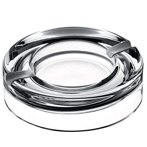 Cenicero, Vidrio cristalino de la tendencia de la personalidad creativa, multi-funcionales Europea Inicio Sala Mesa de Centro regalos for los hombres WXIFEID (color: transparente, tamaño: 23 * 4.9cm),
