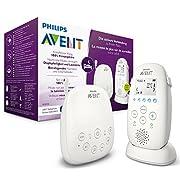 Philips Avent Audio Babyphone SCD723/26 - DECT-Technologie, Kristallklarer Klang, Eco-Mode, Nachtlicht, Maximale Reichweite, weiß