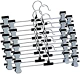 REAL SHOPEE Steel Cloth Hangers, Standard Size (Multicolour) - Set of 12