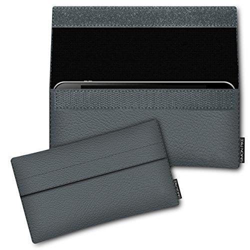 SIMON PIKE Hülle Tasche kompatibel mit Samsung Galaxy S8 Active | Schutztasche Newyork in 01 grau aus Kunstleder Handyhülle