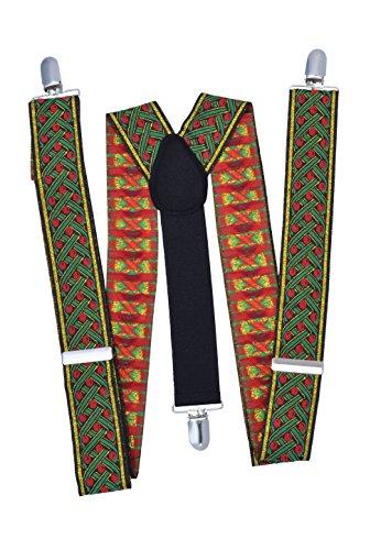 Bristol Novelty Ba025 Bretelles de Père Noël Deluxe, Rouge, Taille Unique