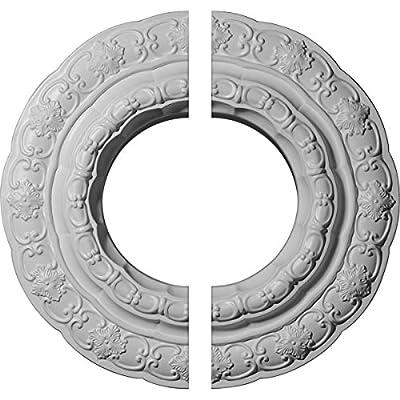 Ekena Millwork 15 3/8-Inch OD x 7-Inch ID x 1-Inch Lisbon Ceiling Medallion